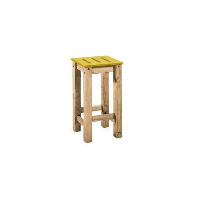 Stillwell 24.8 in. Tall Yellow and Natural Wood Barstool (Set of 2)