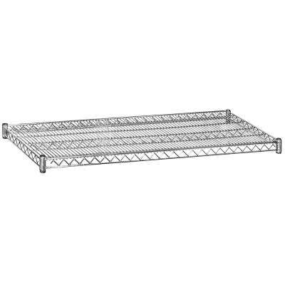 2 in. H x 60 in. W x 24 in. D Shelf Wire Chrome Finish Commercial Shelving Unit