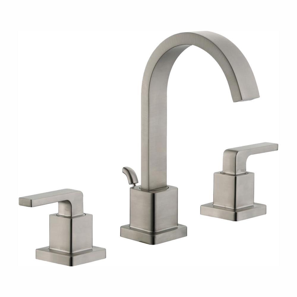 Glacier Bay Farrington 8 in. Widespread 2-Handle Bathroom Faucet in Brushed Nickel