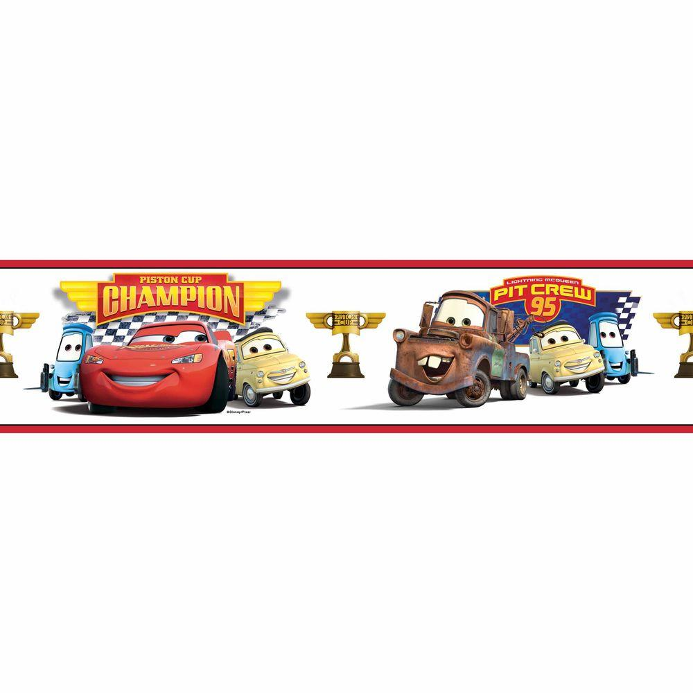 Lovely RoomMates Cars Piston Cup Champion Peel And Stick Wallpaper Border