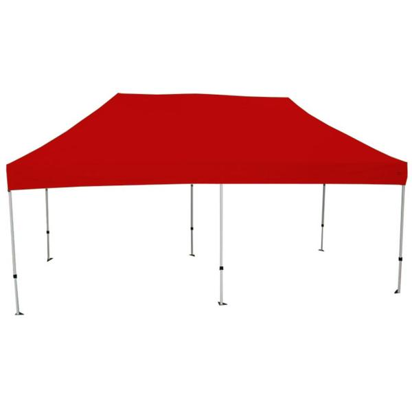 Goliath 10 ft. x 20 ft. Silver Frame Instant Pop Up Tent with Red Cover