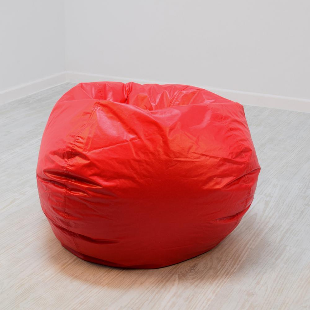 Outstanding Red Vinyl Bean Bag Creativecarmelina Interior Chair Design Creativecarmelinacom