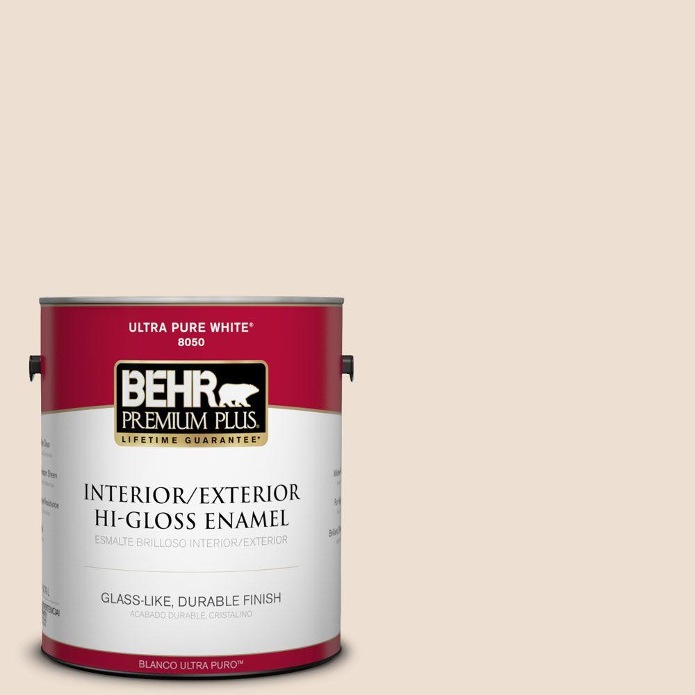BEHR Premium Plus 1-gal. #PWN-43 Calming Retreat Hi-Gloss Enamel Interior/Exterior Paint