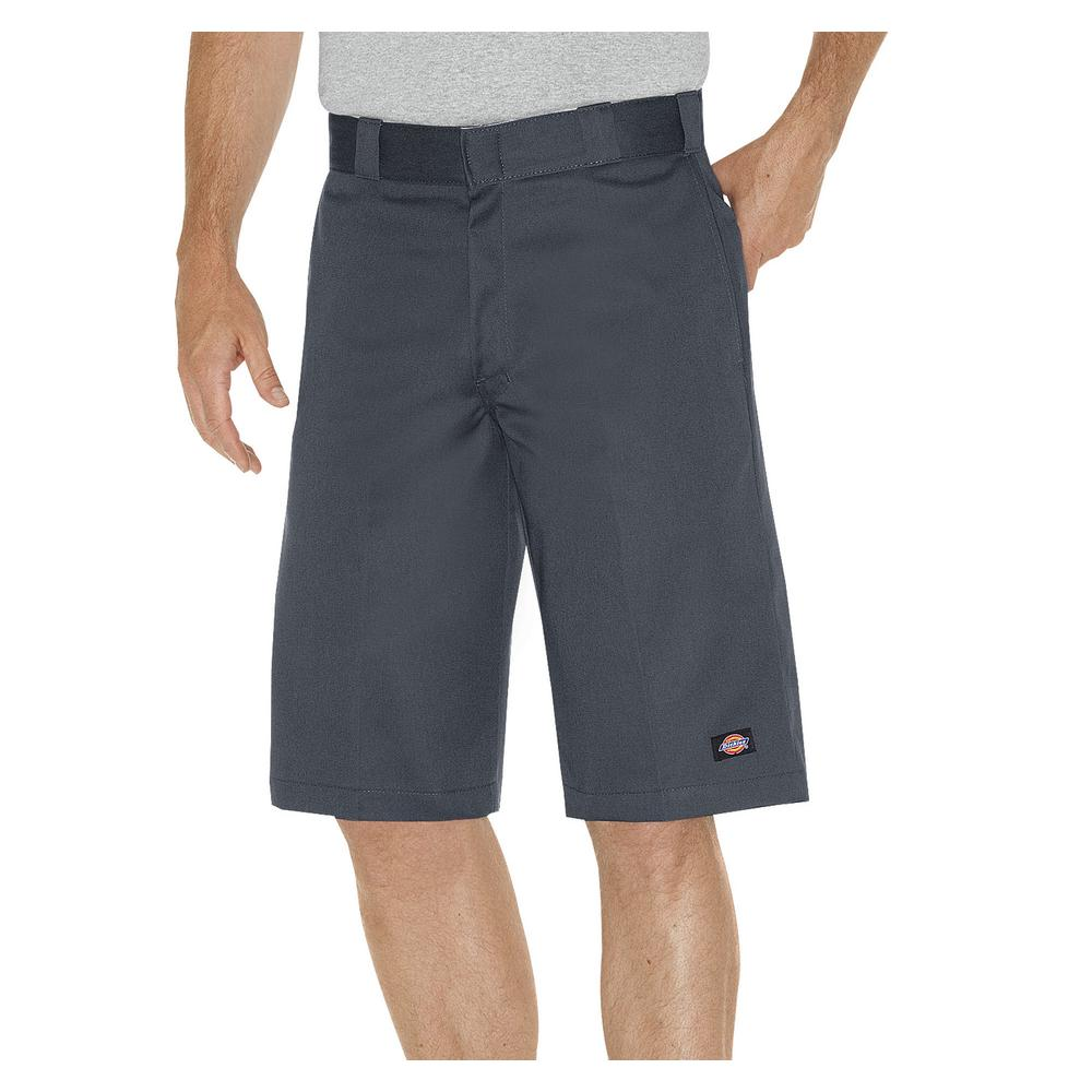 Men 13 in. Relaxed Fit Charcoal Multi-Pocket Work Short
