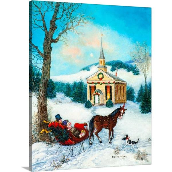 "Opportunities Canvas LED Christmas Carolers Print 20/"" x 16/"""