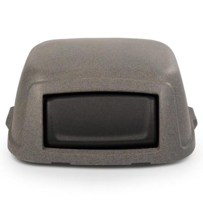 Slimline 50 Gal. Graystone Square Trash Can Dome Top Lid
