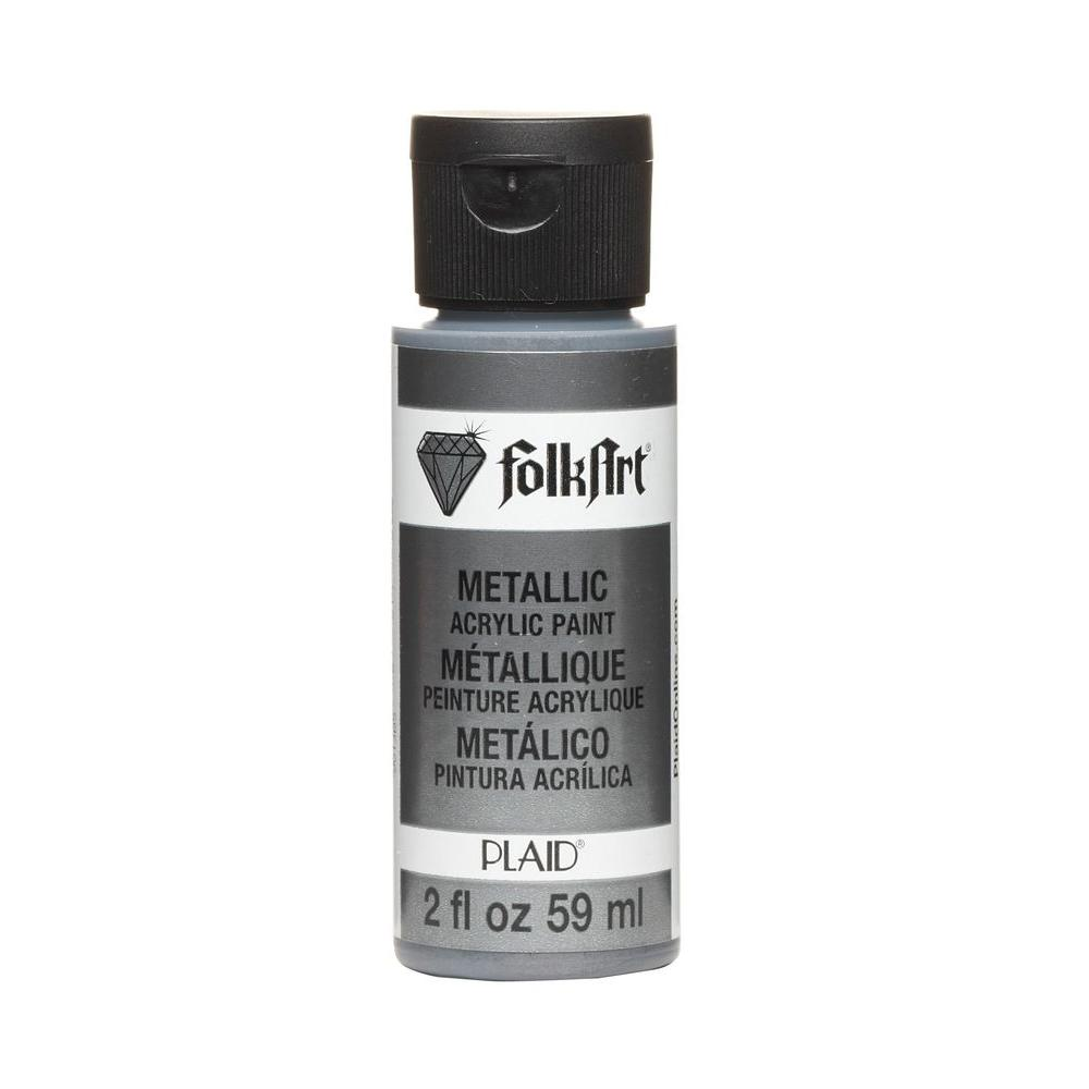 Folkart 2 Oz Gunmetal Gray Metallic Craft Paint Ja667