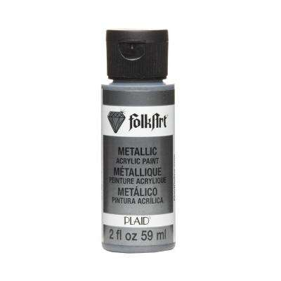 2 oz. Gunmetal Gray Metallic Craft Paint