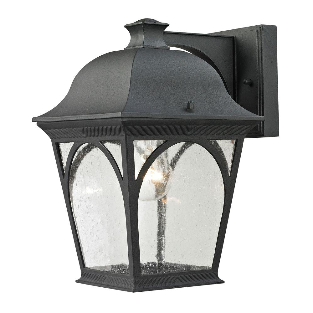 Cape Ann 1-Light Outdoor Matte Textured Black Sconce