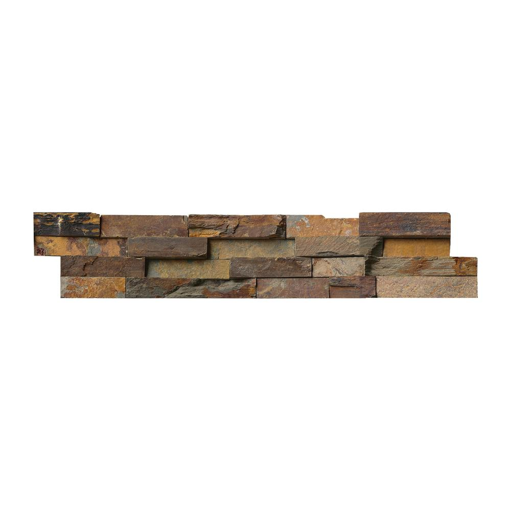 MSI California Gold Ledger Panel 6 in. x 24 in. Natural Slate Wall Tile (1 sq. ft.)