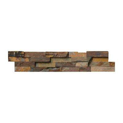 California Gold Ledger Panel 6 in. x 24 in. Natural Slate Wall Tile (1 sq. ft.)