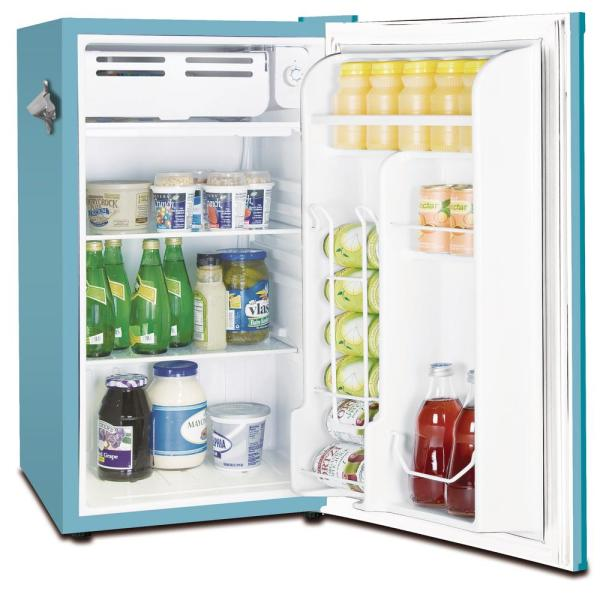 Frigidaire 3 2 Cu Ft Retro Mini Fridge In Blue Efr376 Blue The Home Depot