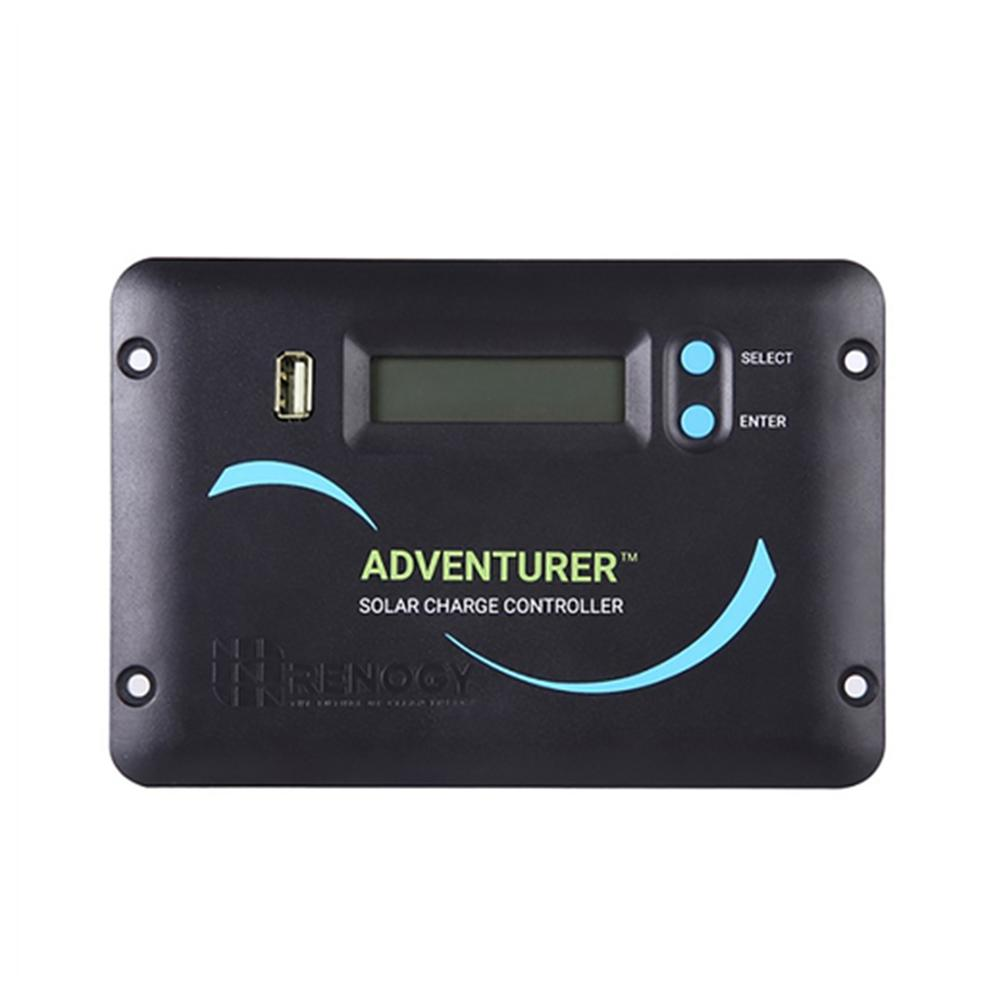 Renogy Adventurer 30 Amp Pwm Flush Mount Charge Controller With Lcd Led Solar View Display