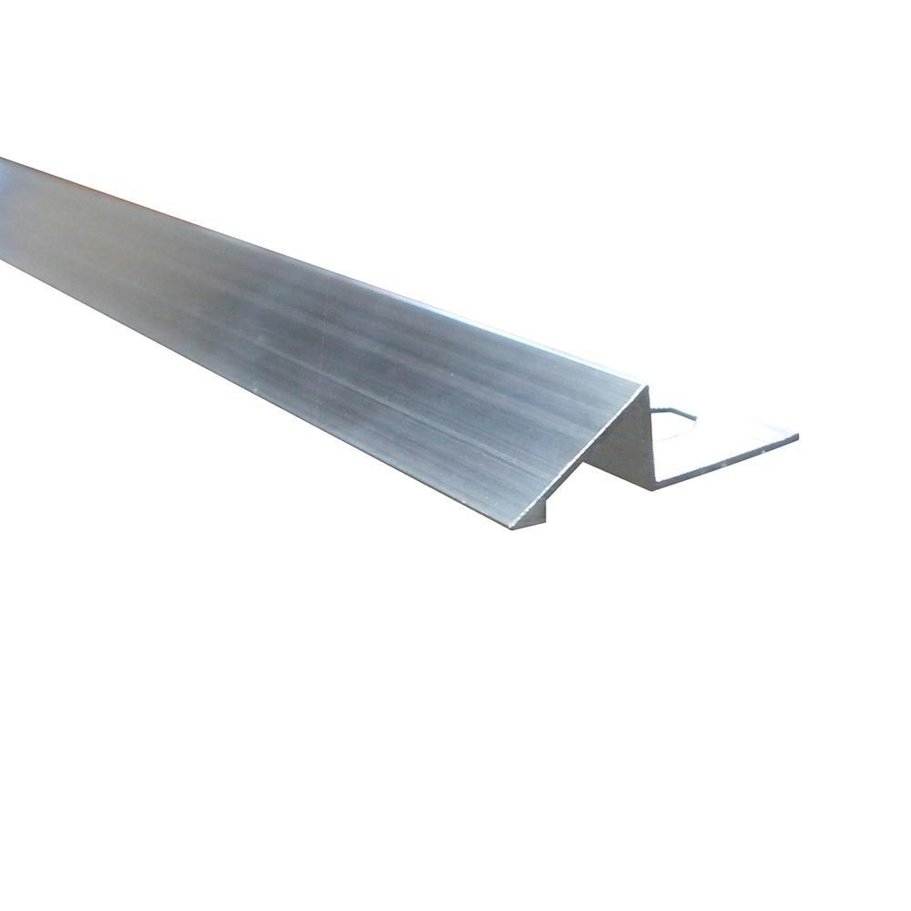Emac Novonivel Matt Silver 3/8 in. x 98-1/2 in. Aluminum Tile Edging Trim