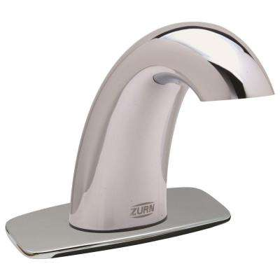 AquaSense Deck-Mount Touchless Bathroom Faucet with 4 in. Cover Plate and 0.5 GPM Aerator in Chrome