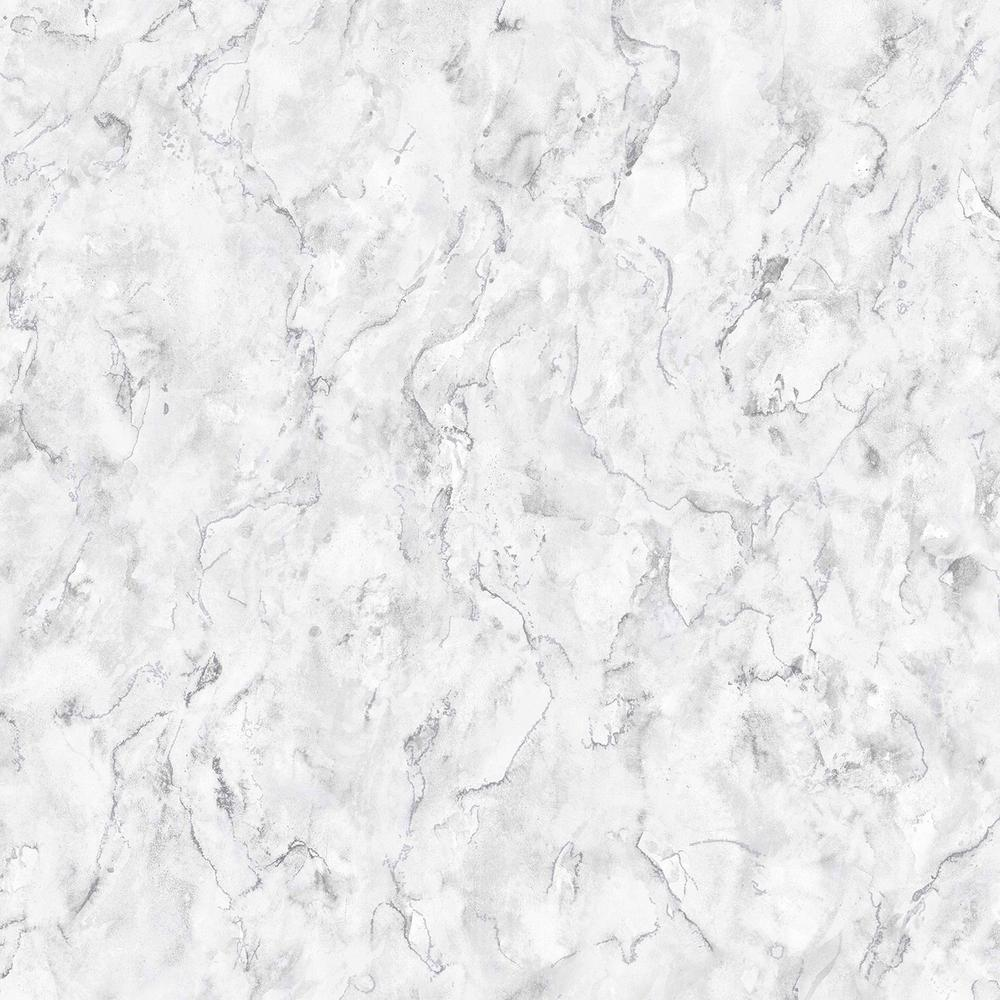 Marble White and Grey Removable Wallpaper Sample