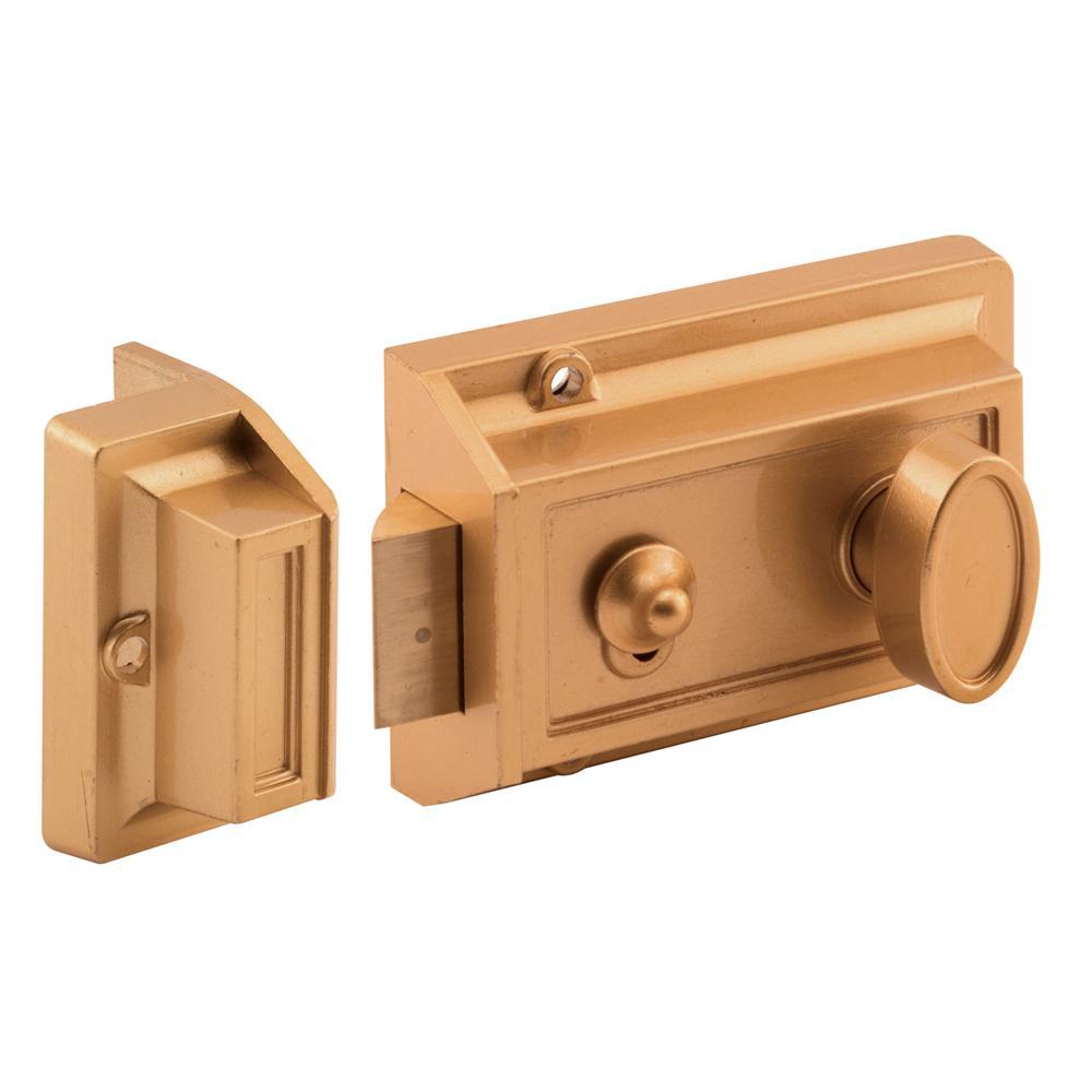 Satin 92mm Case Night Latch Y 89 Chrome 3 Key Rim Cylinder Door Pull