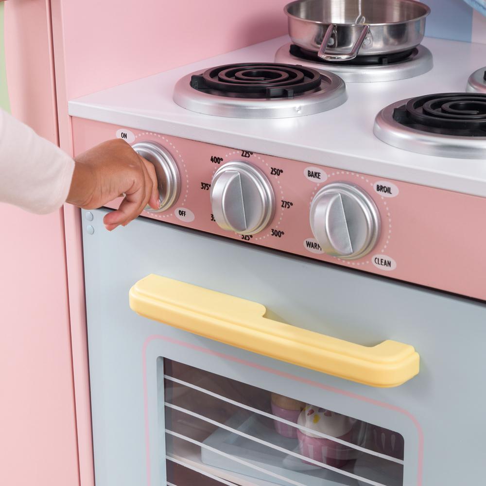 Kidkraft Large Pastel Kitchen Playset 53181 The Home Depot