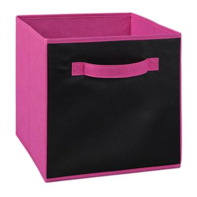 11 in. W x 11 in. H x 11 in. D Fuchsia Chalkboard Fabric Drawer