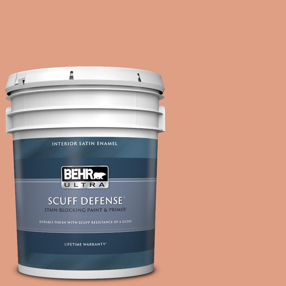 Behr Ultra 5 Gal 220d 4 Southwest Stone Extra Durable Satin Enamel Interior Paint And Primer In One 775405 The Home Depot