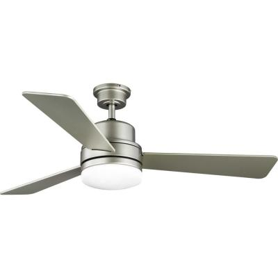 Trevina II 52 in. Painted Nickel Ceiling Fan with Light