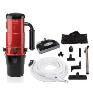 Click here to buy Prolux CV12000 Red Central Vacuum Power Unit with Electric Hose and Black Power Nozzle Kit by Prolux.