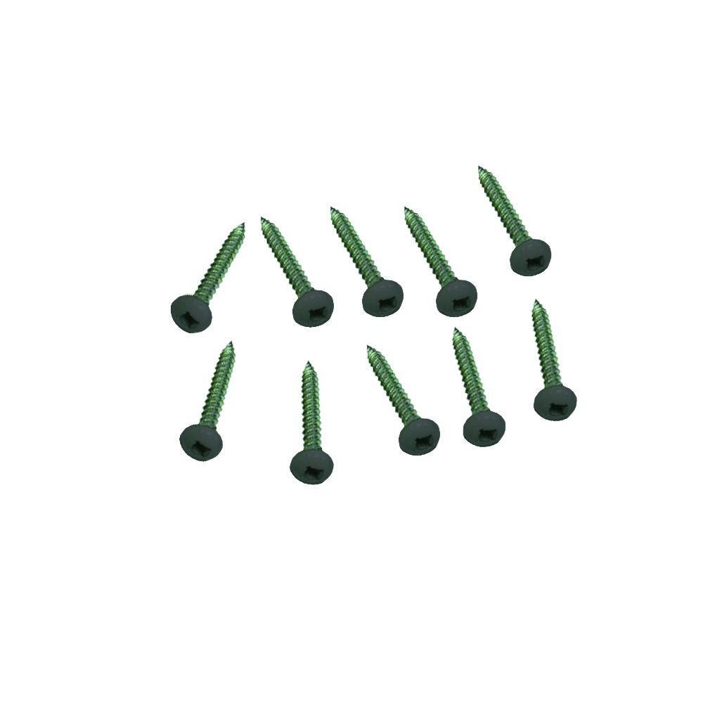 #10 1-1/2 in. Phillips Pan Head Black Plastic Lattice Screws (12-Pack)