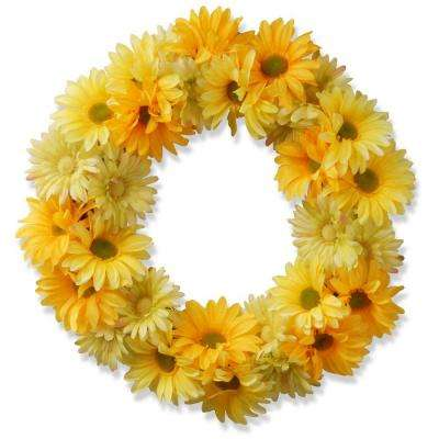 19 in. Garden Accents Yellow Cosmos Wreath