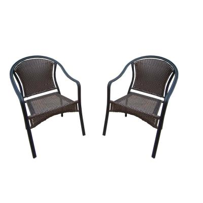 Tuscany Wicker Outdoor Dining Chair (2-Pack)
