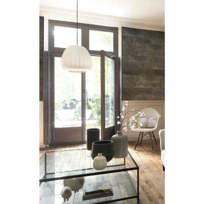 Element Wood 1/4 in. x 6 in. x 48 in. Grey Resin Decorative Wall Panel (Bundle Pack)