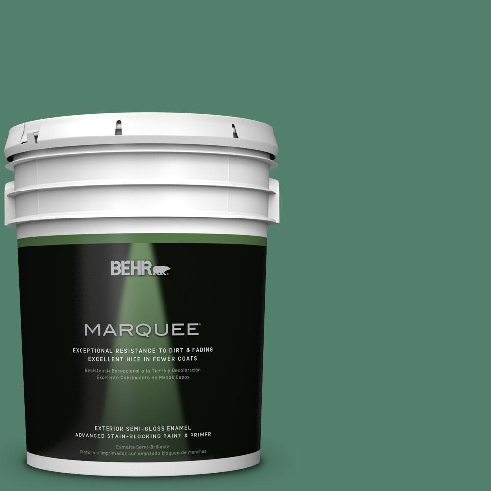 5-gal. #M430-6 Park Bench Semi-Gloss Enamel Exterior Paint