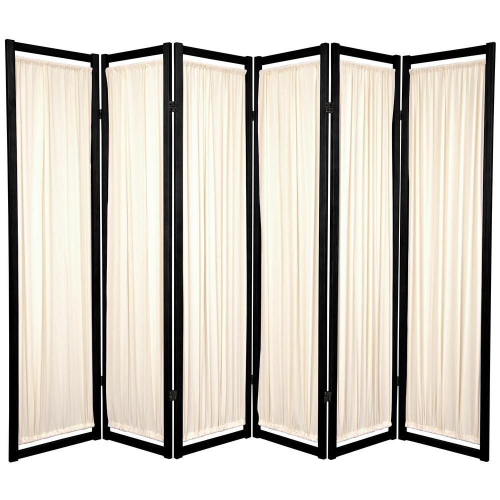 Peachy 6 Ft Black 6 Panel Room Divider Download Free Architecture Designs Embacsunscenecom