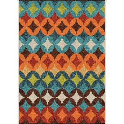 Strawberry Fields Multi Geo 8 ft. x 11 ft. Indoor/Outdoor Area Rug