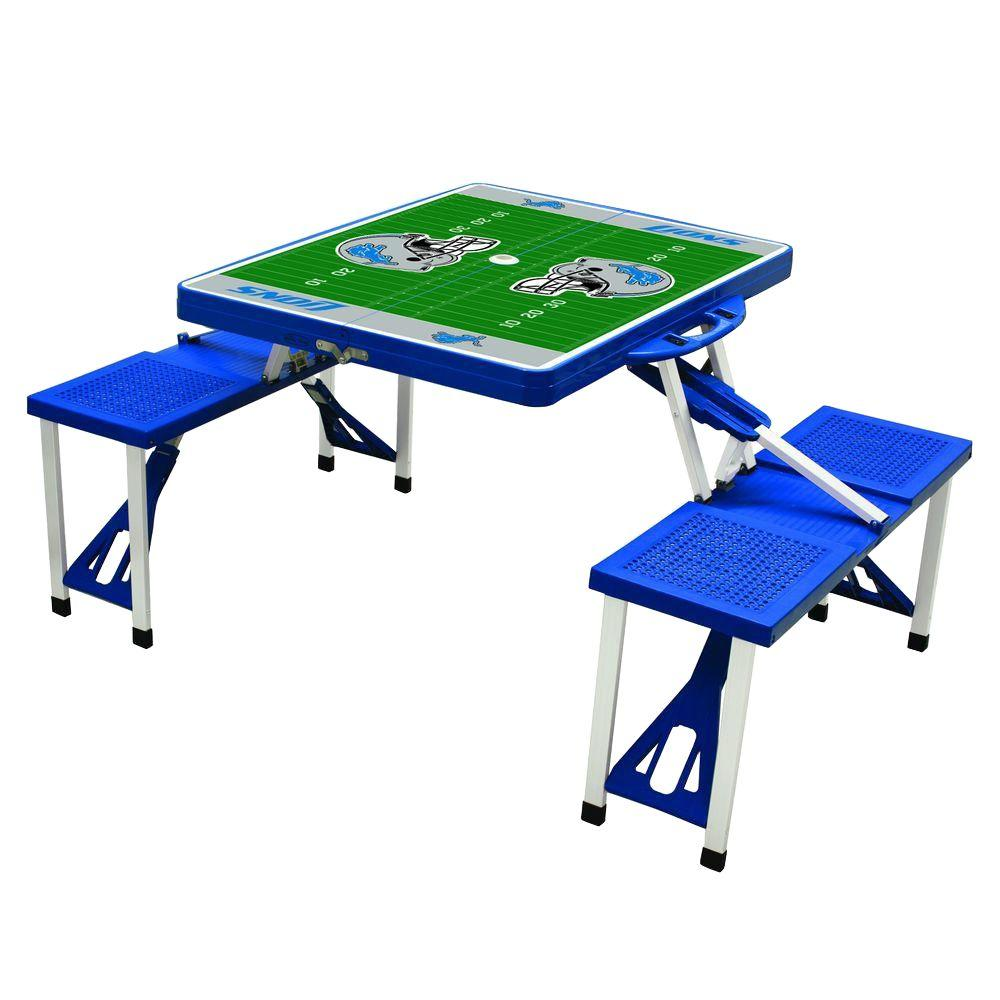Picnic Time Detroit Lions Sport Patio Picnic Table