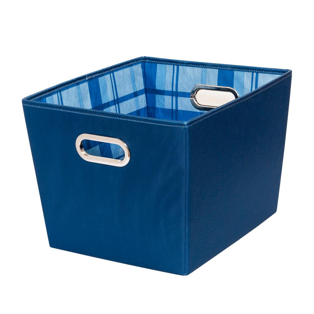 15.75 in. x 10.8 in. Blue Polyester Nestable Bin (2-Pack)