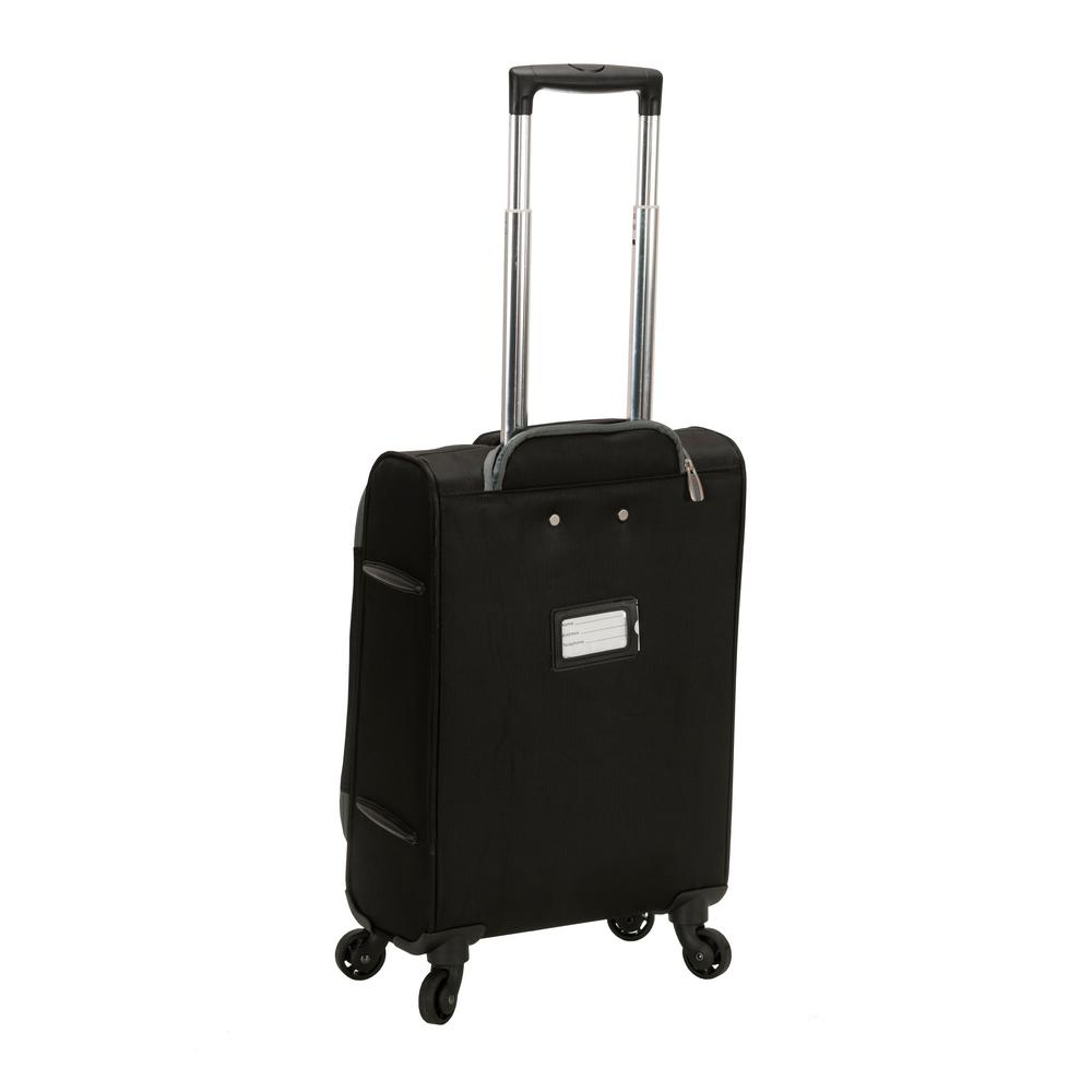 7be26e670 Rockland Gravity 2-Piece Light Weight Softside Luggage Set, Black  F231-BLACK - The Home Depot