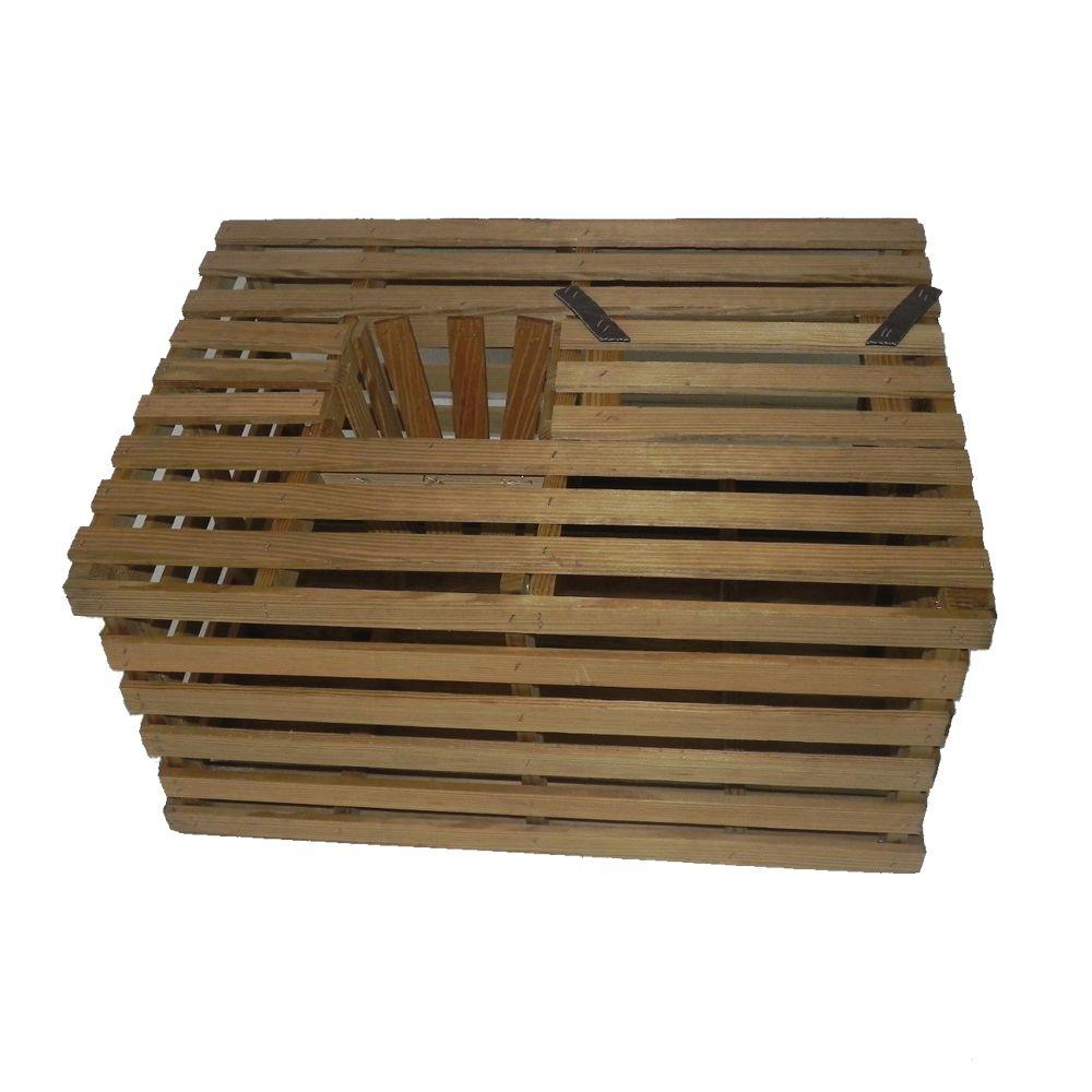 16 In X 16 In X 16 In Pressure Treated Crab Trap Wood Crate