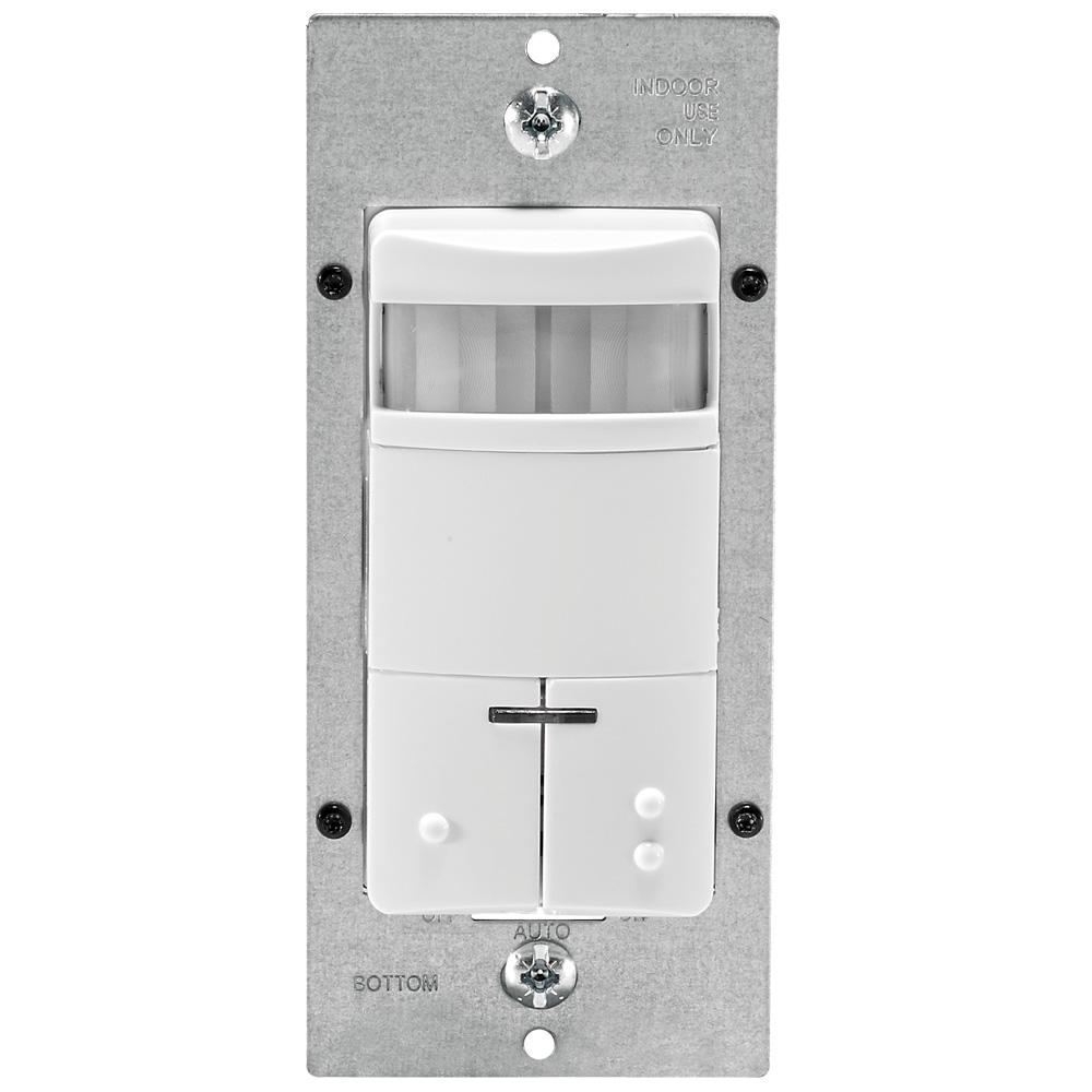 Leviton Decora Dual-Relay Passive Infrared Wall Switch Occupancy ...