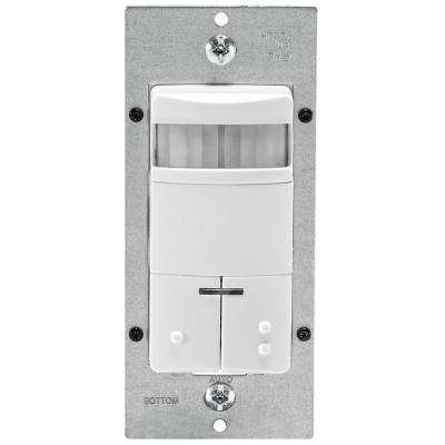 Decora Dual-Relay Passive Infrared Wall Switch Occupancy Sensor, White
