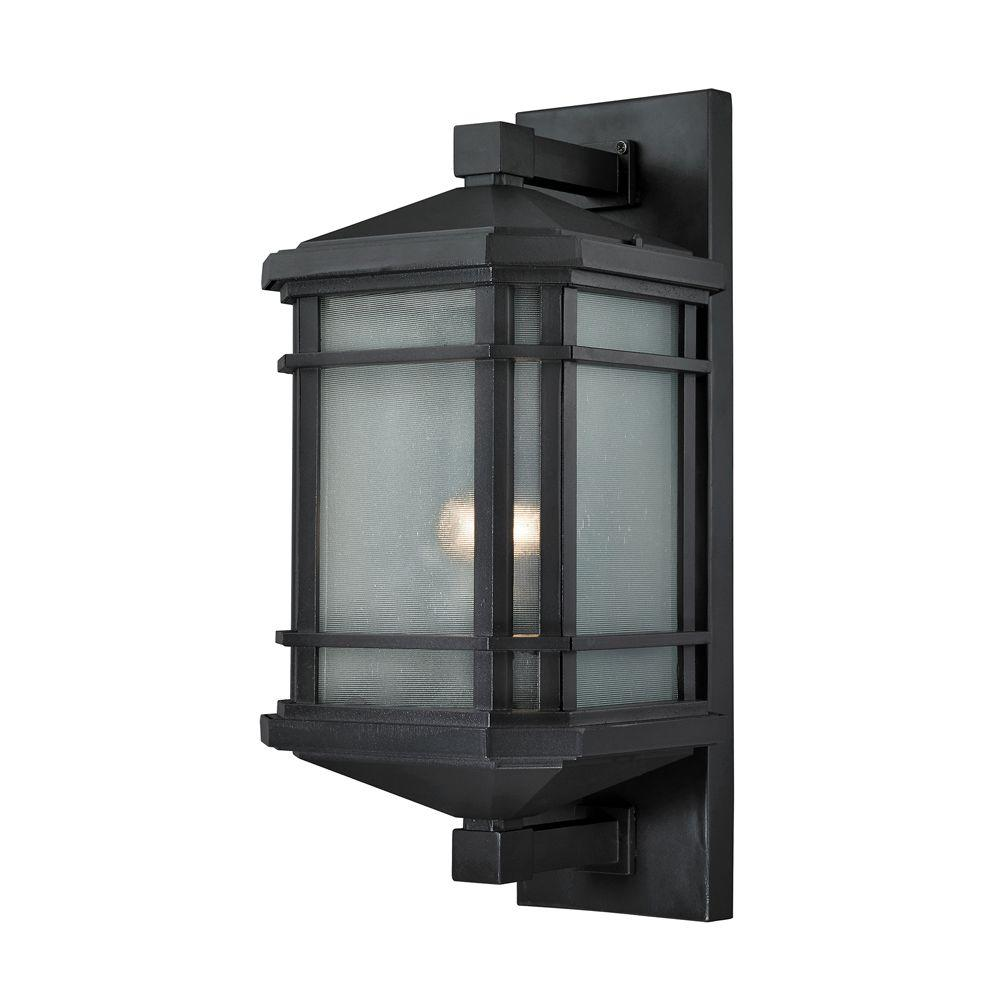 Elk Lighting Bristol: Titan Lighting Lowell 1-Light Matte Black Outdoor Sconce