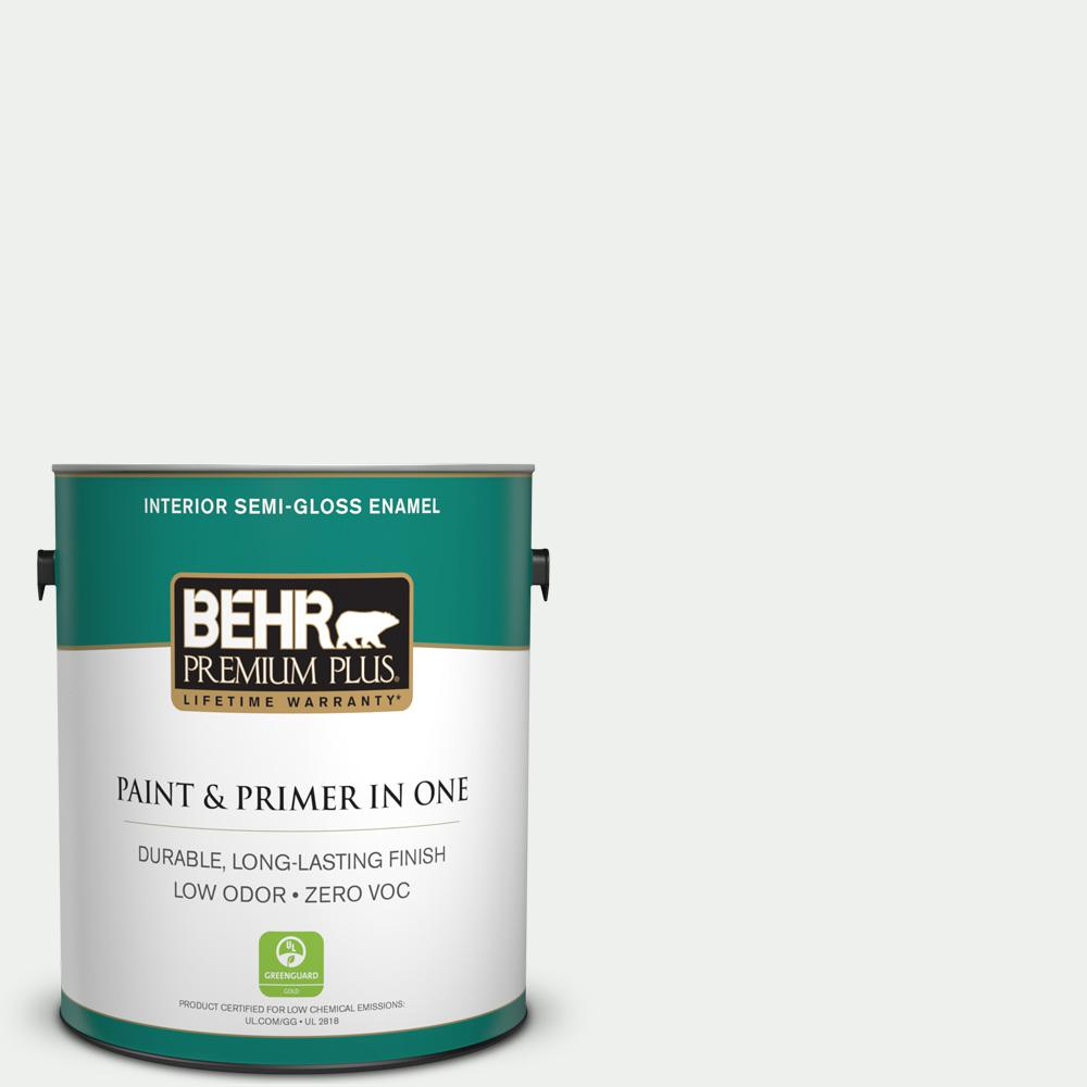 1 gal. #57 Frost Semi-Gloss Enamel Interior Paint