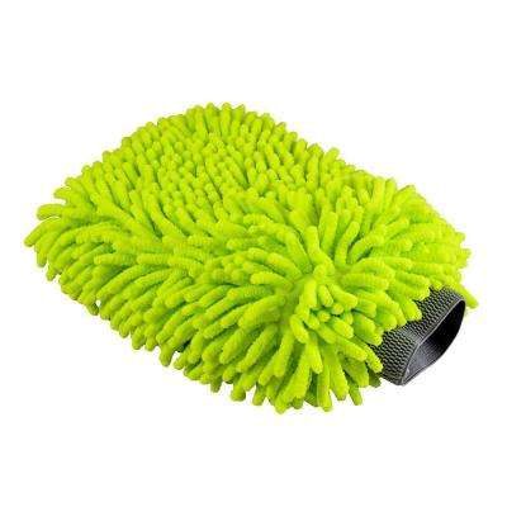 Chenille Microfiber Premium Scratch-Free Wash Mitt (Lime Green)