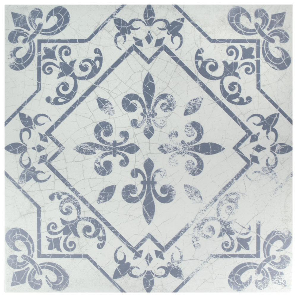 Merola Tile Atlantic Azul Encaustic 17-5/8 in. x 17-5/8 in. Ceramic Floor and Wall Tile