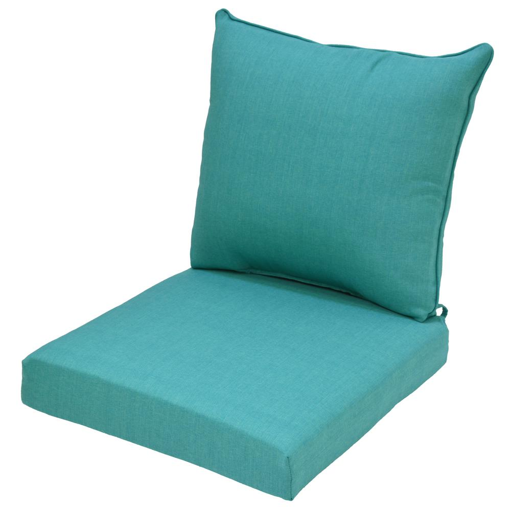 24 x 24 Outdoor Lounge Chair Cushion in Standard Seaglass