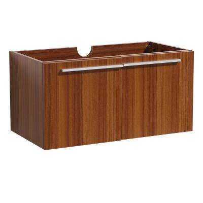 Vista 36 in. Bathroom Vanity Cabinet Only in Teak