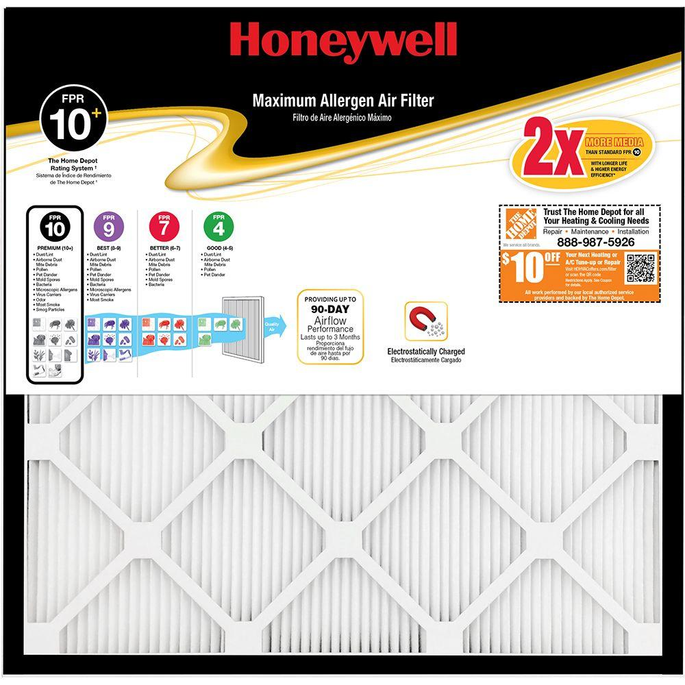 Honeywell 16 in. x 20 in. x 1 in. Maximum Pleated FPR 10+ Air Filter
