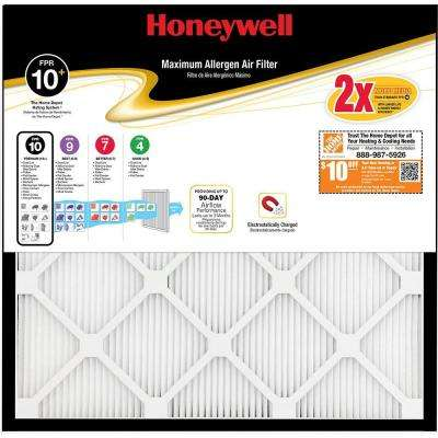 16 in. x 20 in. x 1 in. Maximum Pleated FPR 10+ Air Filter