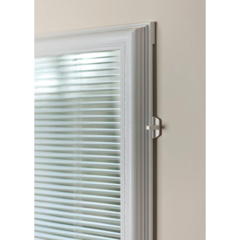 Odl 20 In X 64 In Add On Enclosed Aluminum Blinds In White For Steel Fiberglass Doors With Raised Frame Around Glass Bwm206401 The Home Depot