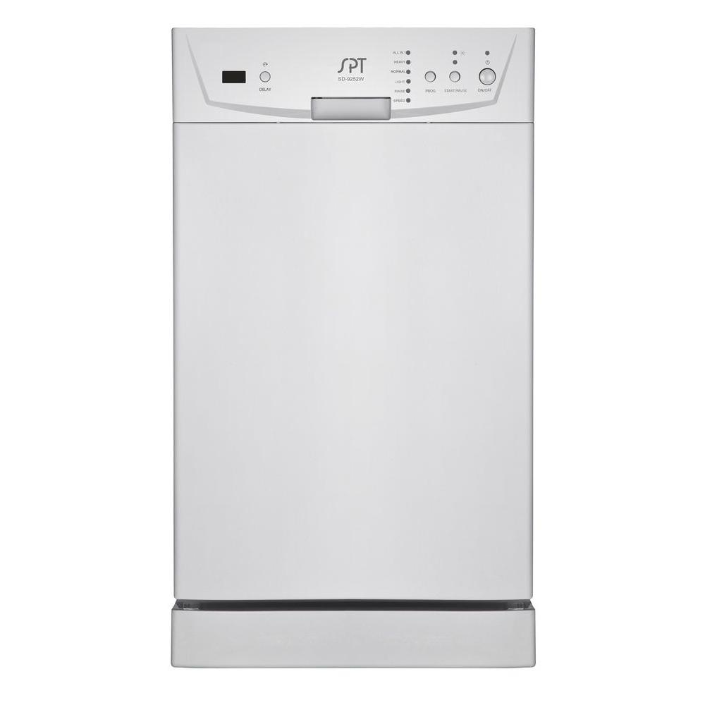 Beau Built In Front Control Dishwasher In White ...