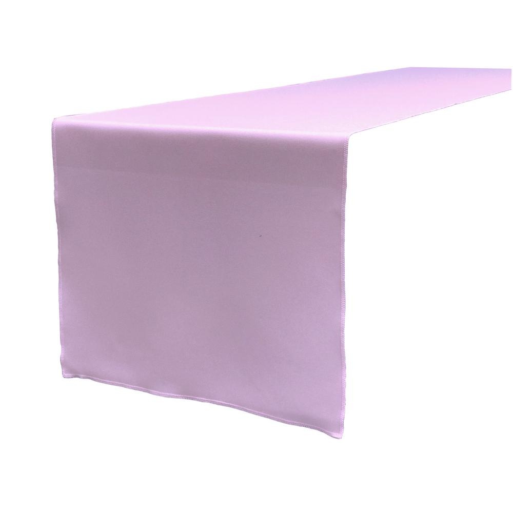 14 in. x 108 in. Lilac Polyester Poplin Table Runner